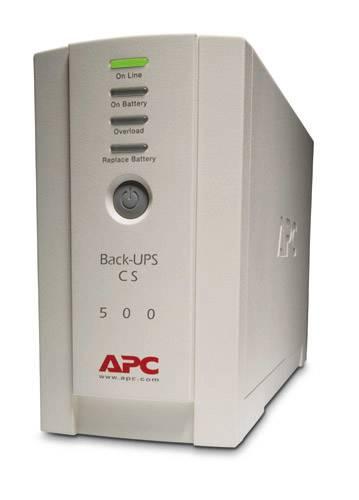 APC Back-UPS Standby (Offline) 500VA 4AC-Ausgänge Tower Beige Unterbrechungsfreie Stromversorgung (UPS)