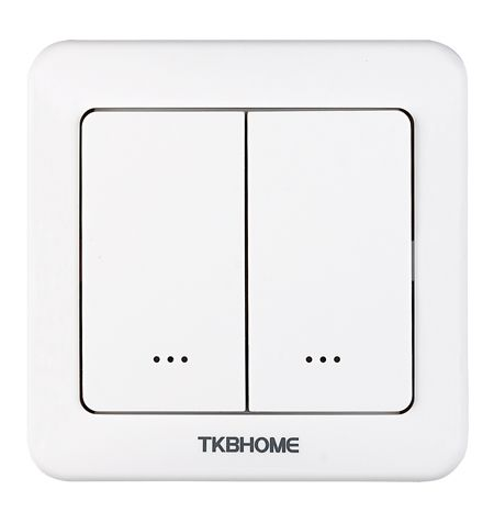 TKB Home Wandschalter mit Zweifach-Wippe (Abgerundete Ecken)